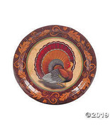Thanksgiving Turkey Dinner Plates  - $3.35