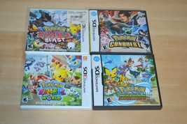 Pokemon Rumble World Ranger Guardian Signs Conquest CASES ONLY NO GAMES Nintendo - $65.44