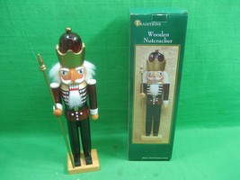 """Vintage Christmas Holiday Traditions Wooden Nutcracker Spear 14.25"""" - $18.66"""