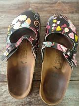 Used Birkenstock Birki's Maria Mary Jane Clog Sandals Women Shoes Sz 38 L7 Blk - $29.65