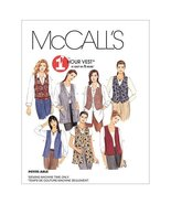 McCall's 1 Hour Vest Pattern 2260 Misses Unlined Vests in Two Lengths Si... - $14.21