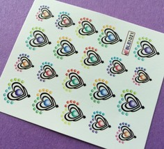 BANG STORE Nail Art Water Decals Layered Hearts Valentine's Day FUNNY AN... - $2.11