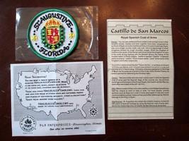 ST AUGUSTINE FLORIDA CASTILLO SAN MARCOS 3 IN VINTAGE PATCH TRAILBLAZER NEW - $7.85