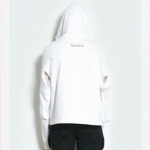 NWT Helmut Lang Mens White Austria Cut Out Side Hoodie Shayne Oliver XL - $89.00
