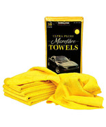 KIRKLAND Microfibre Cleaning Towel Detailing Soft Yellow Car Wash Cloth ... - $3.01+
