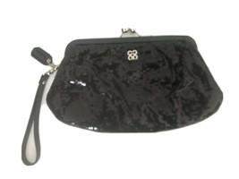 Coach Black Sequin Wristlet Clutch Kisslock Purse Dressy Silver Hardware - $48.28