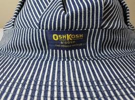 Vtg OshKosh B'Gosh Train Engineer Railroad Cap Hat USA Striped Osh Josh image 2