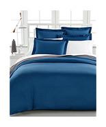 Charter Club Damask Solid 500t Denim (Blau) Doppelbett / Queen Bettbezug... - $74.23