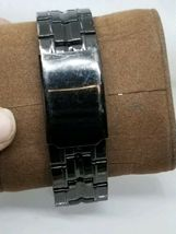 Vintage Mens Luxe Diamond / Date Dress Watch New Battery Works image 6