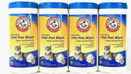4Pk 30ct Arm & Hammer Heavy Duty Litter Pan Wipes ~* FAST FREE SHIPPING ... - $15.72