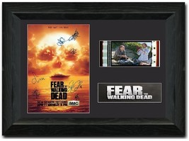 Fear the Walking Dead 35 mm Film Cell Stunning display SIGNED s3 Cast  - $16.64