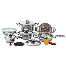 Chef's Secret 12pc 9-Ply Waterless Heavy-Gauge Stainless Steel Cookware ... - $206.00