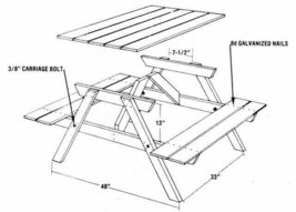 Printable GIF file from Picnic Table 6 Feet easy to perform and... - $11.67