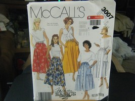 McCall's 3007 Misses Skirts Pattern - Size 12/14/16 - $6.72