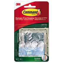 All Weather Hooks and Strips, Plastic, Small, 16 Clips & 20 Strips/Pack - $30.45