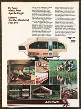 1979 Apache Eagle Camping Trailers Print Ad Family Lake Interiors - $10.62