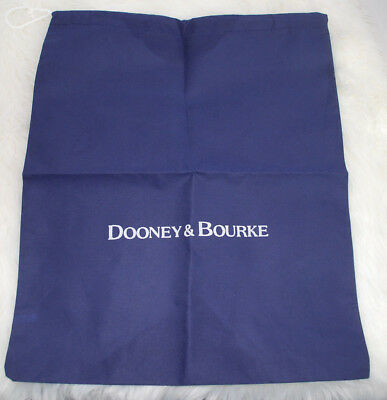 "Dooney & Bourke Dust Bag Storage Drawstring Pouch Blue White Logo 21""x1.5"" NEW - $24.70"