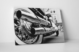 """Motorcycle Chrome Pipes Pop Art Gallery Wrapped Canvas 20""""x30"""" - $52.42"""