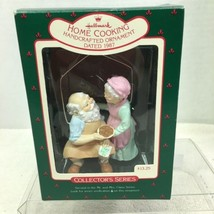 1987 Mr and Mrs Claus #2 Home Cooking  Hallmark Christmas Tree Ornament ... - $29.21