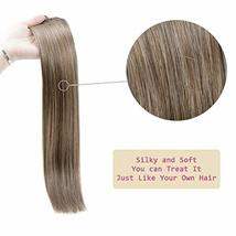RUNATURE Clip in Human Extensions Real Brazilian Clip Extensions 20 Inches, 3pcs image 7