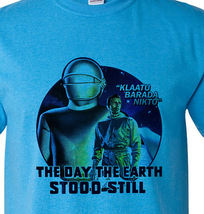 The day the earth stood still retro vintage sci fi movie film blue distressed thumb200