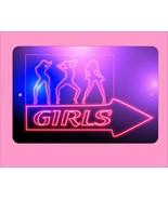 """Girls Go Go Dancing strip club   8"""" x 12"""" metal sign - $9.11"""