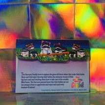 Vintage Lisa Frank Raccoon Family Envelope  One Unmarked Piece Racoon  image 2