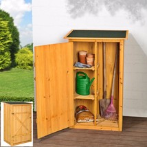 Garden Storage Shed Outdoor Shelving Unit Utility Tool Store Cabinet Yar... - $173.69