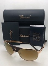 New CHOPARD Sunglasses SCH 974 0300 60-16 135 Gold Brown Aviator w/Mirro... - $399.95
