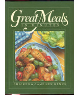 Time Life Chicken cook book recipes 1983 Great Meals Minutes hard cover ... - $4.99