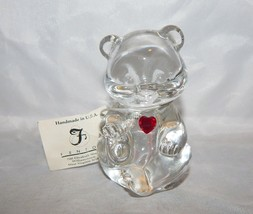 Fenton Glass Birthstone Bear Figurine July Ruby - $13.37