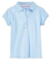 Nautica Little Girls' Polo, Light Blue, Size S(4) Regular, MSRP $24 - $9.89