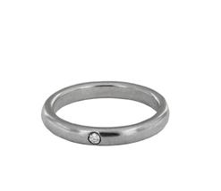 Tiffany & Co Sterling Silver Diamond Elsa Peretti Band Ring - $285.00