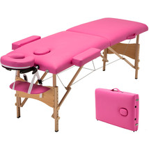 "Pink 84""L Portable Fold Massage Table Facial SPA Beauty Bed Tattoo With ... - $99.00"