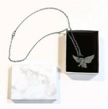 Silver Tone Pendant Necklace Dumbo Elephant Disney Theme Chain Fashion J... - $12.46