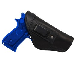 New Barsony Black Leather IWB Gun Holster for Smith & Wesson Full Size 9mm 40 45 - $32.99