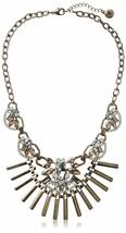 Fragments Goldfarben Glaskristall Cz Stangen Bib Halskette Oval Halskette Nwt image 1