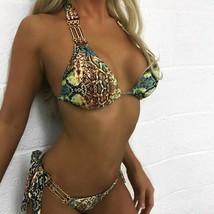 Bikinx Snake print bikinis 2019 mujer bathing suit Triangle sexy female - $24.39+