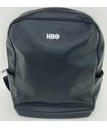 HBO Embroidered Moleskine Men's Backpack Black Electronics Bag - $98.99