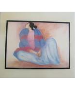 "1970's R.C Gorman Navajo """"Blue Blanket Shawl"" Native Indian Woman Art T... - $29.00"