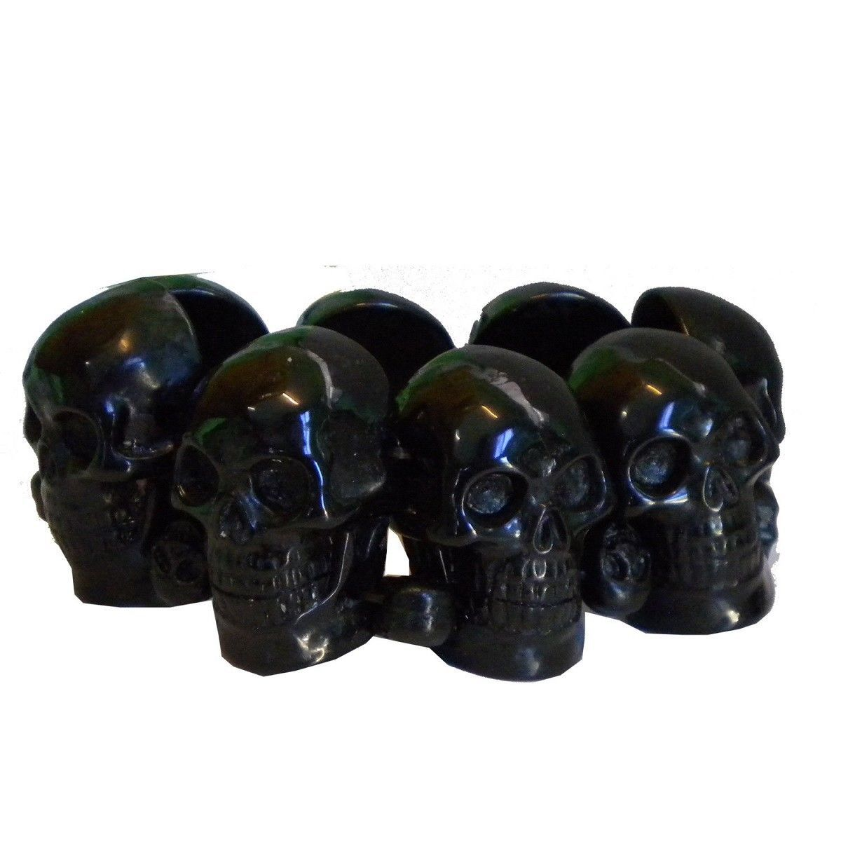 Kreepsville 666 Black Skull Collection Bracelet Bracelet Puck Rock Halloween Fun