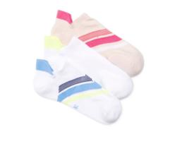 HUE 3-pairs Air Sleek Tab Cushioned Liner Socks Chiffon Racer Pack - $4.89