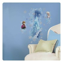 Disney Frozen Wall Decals Stickers GIANT Elsa Anna Decal Ice Palace Roommates  - $25.99