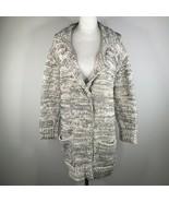 Bottega Veneta Coatigan Cardigan Womens 42 M Gray Thick Knit V Neck Embr... - $650.49