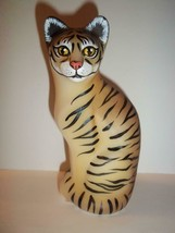 Fenton Glass Natural Tiger Stylized Cat Figurine CC Hardman FAGCA Ex Ltd... - $232.32