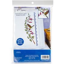 "Janlynn Stamped Cross Stitch Pillowcase Pair 20""X30""-Hummingbird - $20.17"