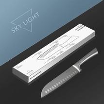 Santoku Knife 7 Inch Japanese Knife  Hollow Edge Blade For Home Professi... - $19.55