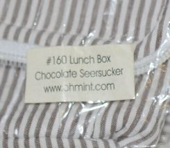 Oh Mint 1603737STRIPE Chocolate and White Stripe Seersucker Lunchbox image 8