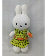 "Nijnte Miffy Plush Lime Green Dress Orange Flower 10"" Stuffed Animal Toy - $29.95"