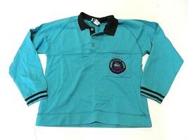 IZOD Lacoste Teal/Turquoise Long Sleeve Polo Shirt Youth Size Medium 12-14 - $32.62